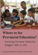 Where to for Provincial Education? 0 9781920118952 1920118950