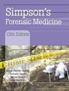 Simpson's Forensic Medicine 13th Edition 9780340986035 0340986034