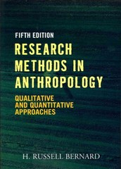 Research Methods in Anthropology 5th Edition 9780759112421 0759112428