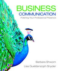 Business Communication 1st edition 9780136078074 0136078079