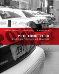 Police Administration 8th Edition 9780135121030 0135121035