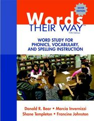Words Their Way 5th Edition 9780137035106 0137035101