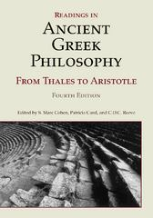Readings in Ancient Greek Philosophy 4th Edition 9781603844628 1603844627