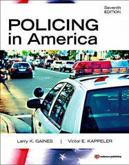 Policing in America 7th edition 9781437734881 143773488X