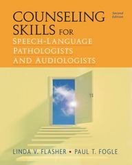 Counseling Skills for Speech-Language Pathologists and Audiologists 2nd Edition 9781435499362 1435499360