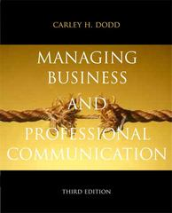 Managing Business & Professional Communication 3rd Edition 9780205823864 0205823866