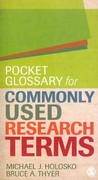 Pocket Glossary for Commonly Used Research Terms 1st Edition 9781412995139 1412995132