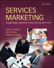Services Marketing 6th Edition 9780078112058 0078112052