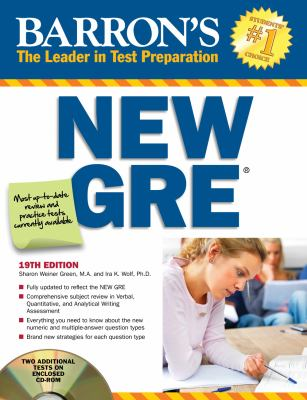 Barron's New GRE 19th edition 9781438070780 1438070780