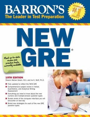 Barron's New GRE 19th edition 9780764146169 0764146165