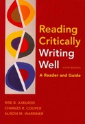 Reading Critically, Writing Well 9e & i-claim 9th edition 9780312588267 0312588267