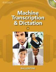Machine Transcription & Dictation (with CD-ROM) 6th edition 9781111425449 1111425442