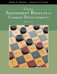 Using Assessment Results for Career Development 8th Edition 9781111521271 1111521271