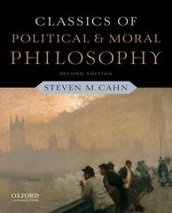 Classics of Political and Moral Philosophy 2nd Edition 9780199791156 0199791155