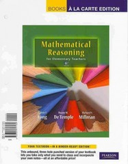 Mathematical Reasoning for Elementary School Teachers, Books a la Carte Edition 6th edition 9780321717184 032171718X