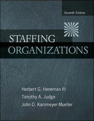 Staffing Organizations 7th edition 9780078112683 0078112680