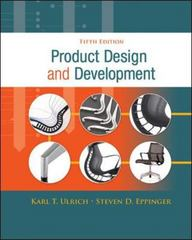 Product Design and Development 5th Edition 9780073404776 0073404772