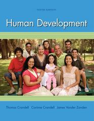 Human Development 10th Edition 9780073532189 0073532185