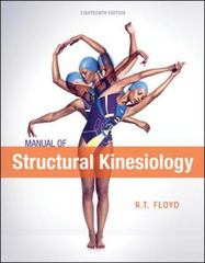 Manual of Structural Kinesiology 18th edition 9780078022517 0078022517