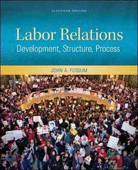 Labor Relations 11th Edition 9780078029158 0078029155