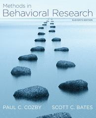 Methods in Behavioral Research 11th Edition 9780078035159 0078035155