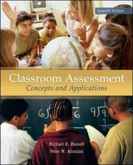 Classroom Assessment 7th Edition 9780078110214 0078110211