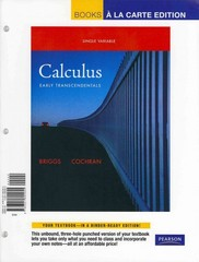 Single Variable Calculus: Early Transcendentals, Books a la Carte Plus MyMathLab/MyStatLab -- Access Card Package 1st edition 9780321715173 0321715179