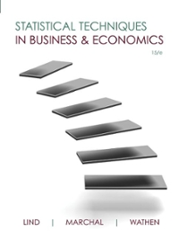 Statistical Techniques in Business and Economics 15th edition 9780077327019 0077327012