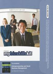 MyBizSkillsKit -- Valuepack Access Card -- for Entrepreneurship and Small Business Management 1st edition 9780132708142 0132708140