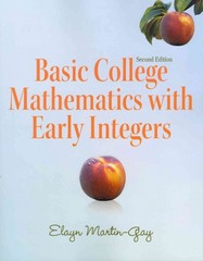 Basic College Mathematics with Early Integers 2nd edition 9780321726438 032172643X