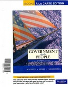 Government by the People, Brief Edition, Books a la Carte Edition 9th edition 9780205834921 0205834922