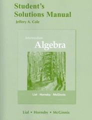 Student's Solutions Manual for Intermediate Algebra 11th edition 9780321715821 0321715829