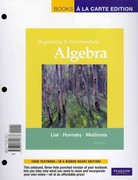 Beginning and Intermediate Algebra, Books a la Carte Plus MML/MSL Student Access Code Card (for ad hoc valuepacks) 5th edition 9780321772022 0321772024