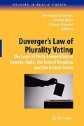 Duverger's Law of Plurality Voting 0 9781441918857 144191885X