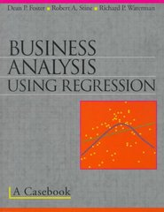 Business Analysis Using Regression 0 9780387983561 0387983562