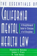 The Essentials of California Mental Health Law 0 9780393702507 0393702502