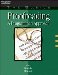 The Basics: Proofreading 4th edition 9780538723749 0538723742