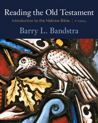 Reading the Old Testament 4th Edition 9780495391050 0495391050