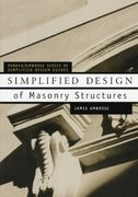 Simplified Design of Masonry Structures 1st edition 9780471179887 0471179884