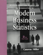 Introduction to Modern Business Statistics 2nd edition 9780534362027 0534362028