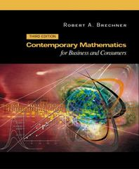 Contemporary Mathematics for Business and Consumers 3rd edition 9780030353963 0030353963