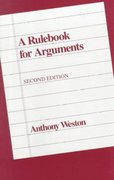 A Rulebook for Arguments 2nd Edition 9780872201569 0872201562