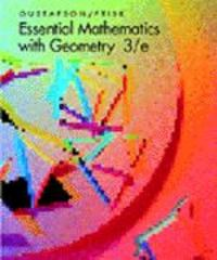 Essential Mathematics with Geometry 3rd edition 9780534339968 0534339964