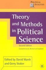 Theory and Methods in Political Science, Second Edition 2nd edition 9780333948552 0333948556