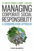 Managing Corporate Social Responsibility 1st Edition 9781444336290 1444336290