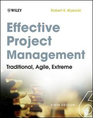 Effective Project Management 6th Edition 9781118016190 111801619X