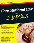 Constitutional Law For Dummies 1st Edition 9781118023785 1118023781