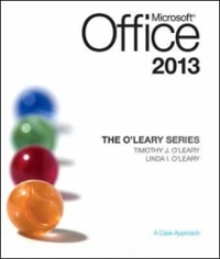 The O'Leary Series: Microsoft Office 2013 1st Edition 9780073519371 0073519375