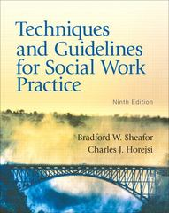 Techniques and Guidelines for Social Work Practice 9th Edition 9780205838752 0205838758