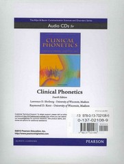 Audio CDs for Clinical Phonetics 4th Edition 9780137021086 0137021089